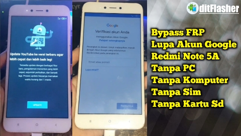 Cara Bypass FRP Xiaomi Redmi Note 5A Tanpa PC/Komputer