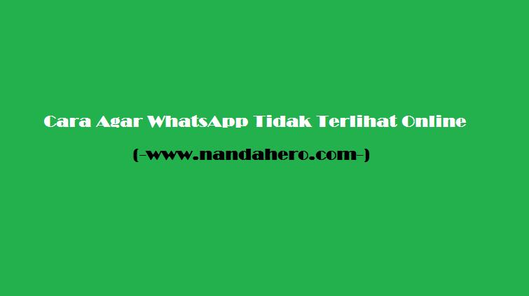 Cara Agar WhatsApp Tidak Terlihat Online (Kelihatan Offline)