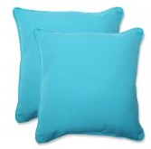 Pillow Perfect Outdoor Veranda Turquoise Throw Pillow