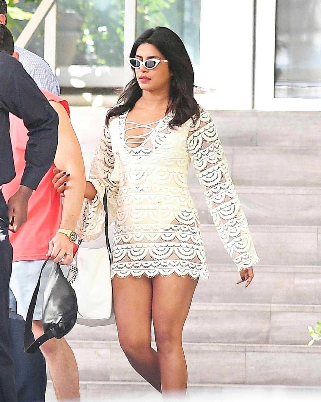 Priyanka Chopra in Swimsuit, Priyanka Chopra in white Swimsuit