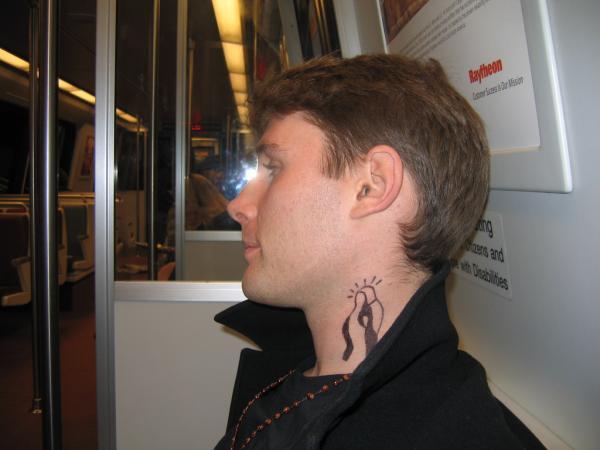 Boondock Neck Tattoo