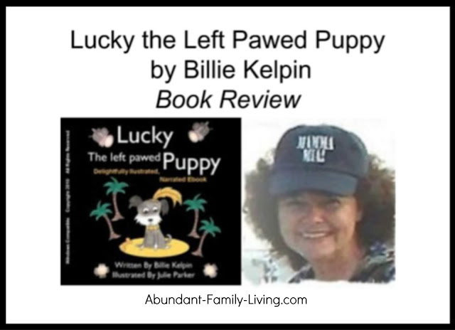 Lucky the Left Pawed Puppy by Billie Kelpin