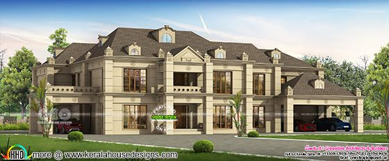 Big Colonial model 6 bedroom house plan