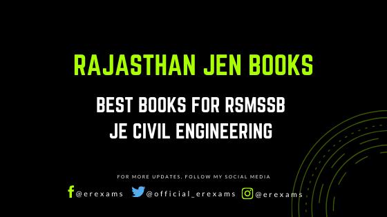 Best Books for RSMSSB JE Civil Engineering