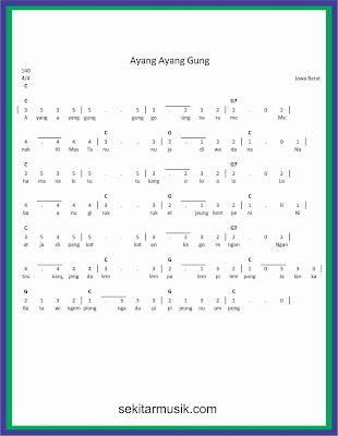 not angka ayang ayang gung lagu daerah jawa barat