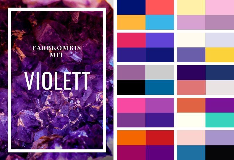 Farbschema-Violett-Kombinieren