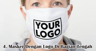 Masker Dengan Logo Di Bagian Tengah Cocok Untuk Dijadikan Sebagai Souvenir Perusahaan