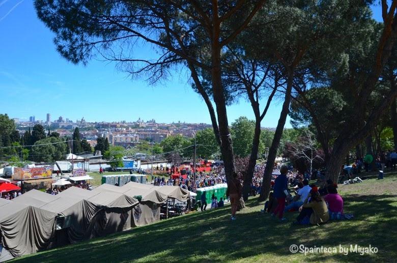 Fiestas San Isidro en Madrid マドリードのサンイシドロ祭りが開催されるプラデラの丘