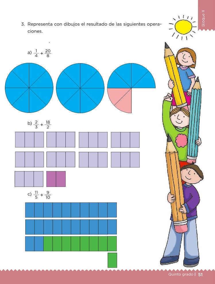 Libro de textoDesafíos Matemáticos¿Qué tanto es?Quinto gradoContestado