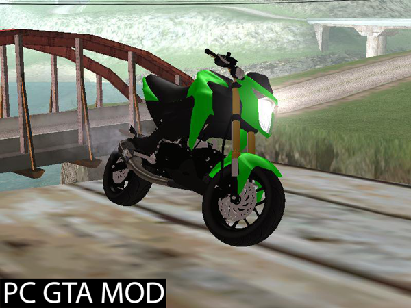 Free Download  Kawasaki Z125 Pro  Mod for GTA San Andrea