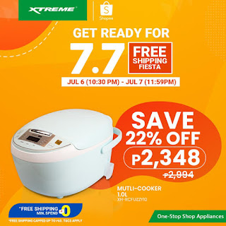 XTREME appliances, 7.7 Shopee Free Shipping Fiesta, Digital Multi-Cooker