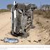 Carro capota e bebê de dez meses morre no local, em Olivedos, Agreste da Paraíba.