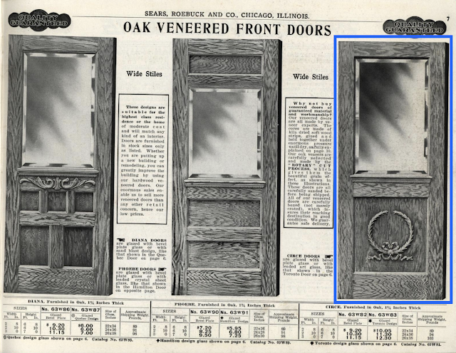 Sears Circe front door 1912 catalog