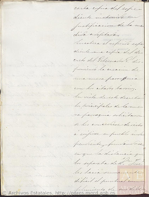 Page 3, Creation of the New Pueblo of Cuenca.
