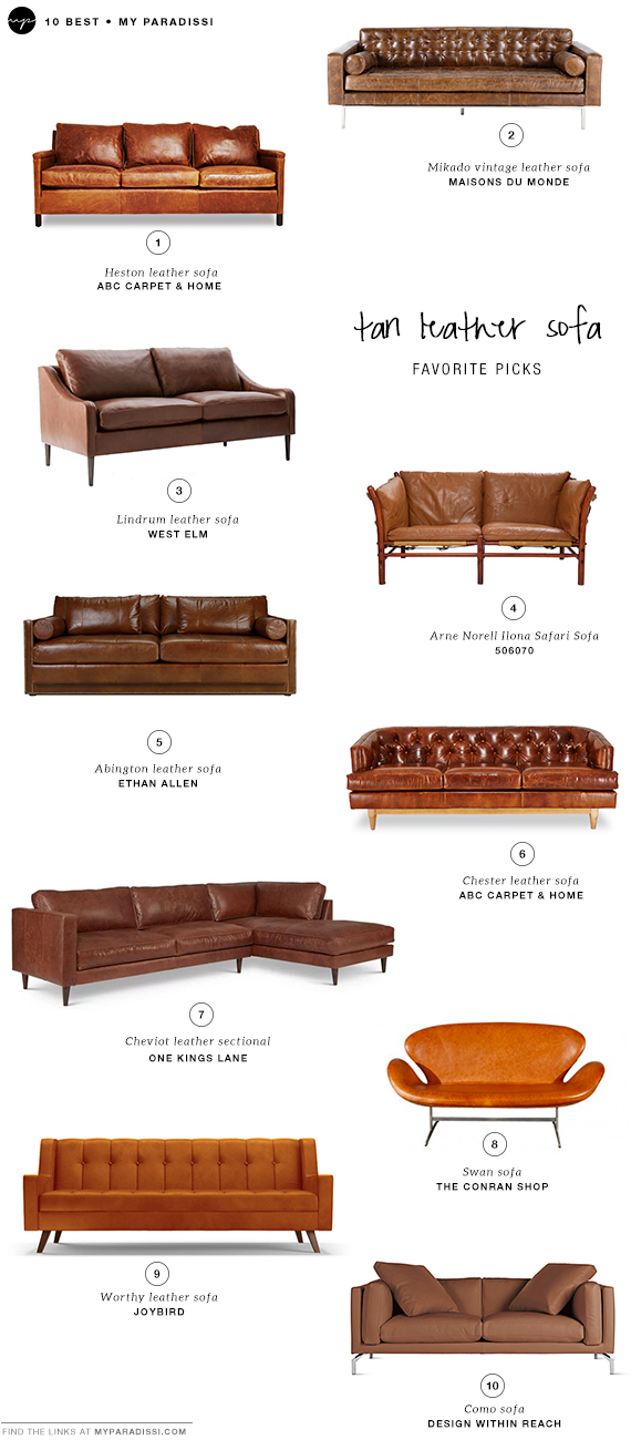 Tan Leather Sofas