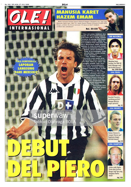 DEBUT DEL PIERO JUVENTUS