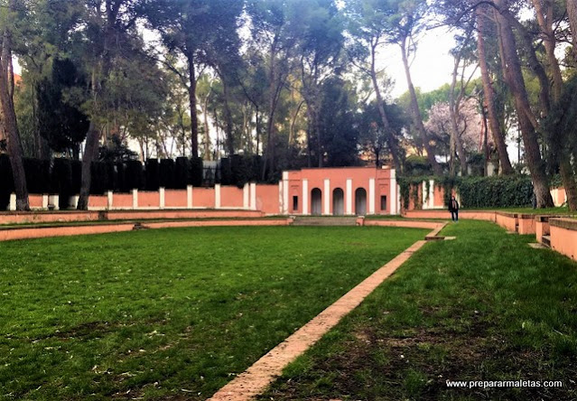 pista de tenis en la Quinta de los Molinos Madrid