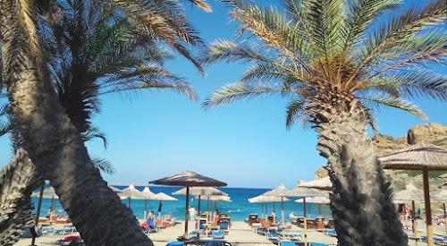 Φωτογραφία από το Βάι, την παραλία και δύο από τους φοίνικες, βορειοανατολική Κρήτη