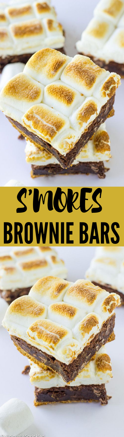 S'mores Brownie Bars #delicious #bars