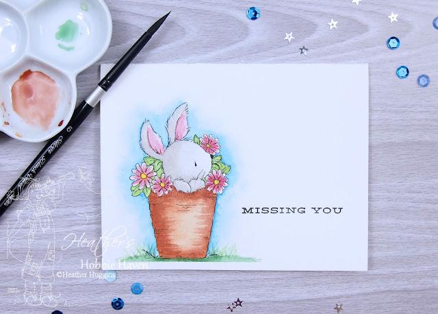 Heather's Hobbie Haven - Bunny Pot Watercolor