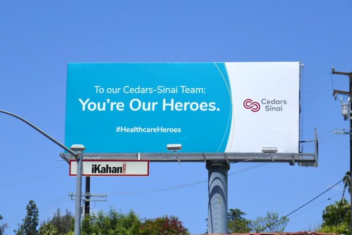 Healthcare Heroes Cedars-Sinai billboard