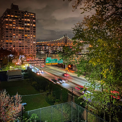 Cars along the FDR, Queensboro Bridge in background