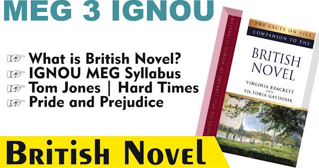 british novel, meg 3 ignou, ignou ma english literature,  english literature, British novel,