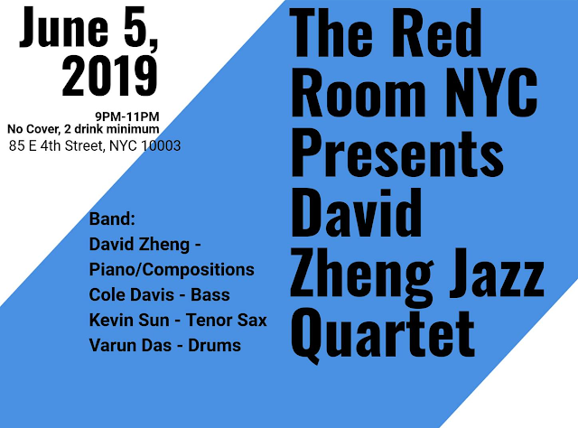 David Zheng Quartet Performs at Red Room at KGB Bar on June 5, 2019