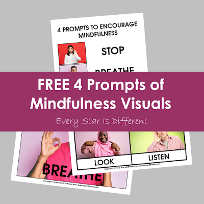 FREE 4 Prompts to Encourage Mindfulness in Children Visuals