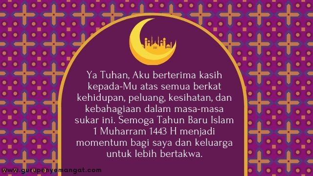 Gambar Ucapan Selamat Tahun Baru Islam 1443 H Melayu 6
