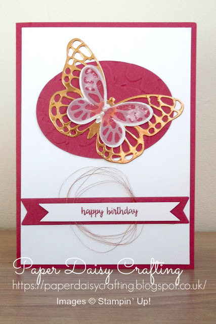 Handmade card with Bold Butterflies and Butterfly dies from Stampin' Up!