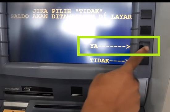 Langkah Kedua Ambil Uang Via ATM Mandiri 4