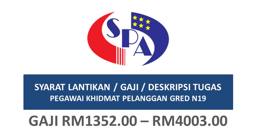 Syarat Lantikan Gaji Deskripsi Tugas Pegawai Khidmat Pelanggan Gred N19