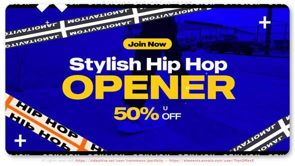 Videohive - Stylish Hip Hop Opener .Free After effects Download Now