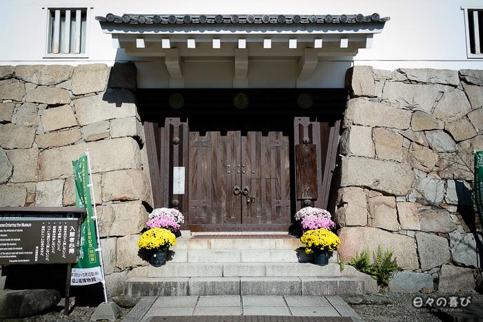 Porte d'entrée un jour de fermeture, Château de Fukuyama, Hiroshima-ken