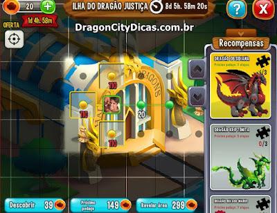 Ilha do Dragão da Justiça - Dicas