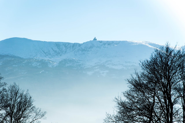 śnieżne kotły, zima, karkonosze, sudety, z psem w góry