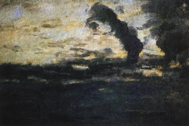 Исаак Ильич Левитан - Облачное небо. Сумерки. 1893