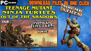 TEENAGE MUTANT NINJA TURTLES OUT OF SHADOWS PC GAME DOWNLOAD