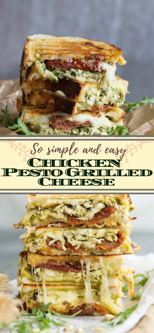 Chicken Pesto Grilled Cheese #dinnerrecipe #food #amazingrecipe #easyrecipe