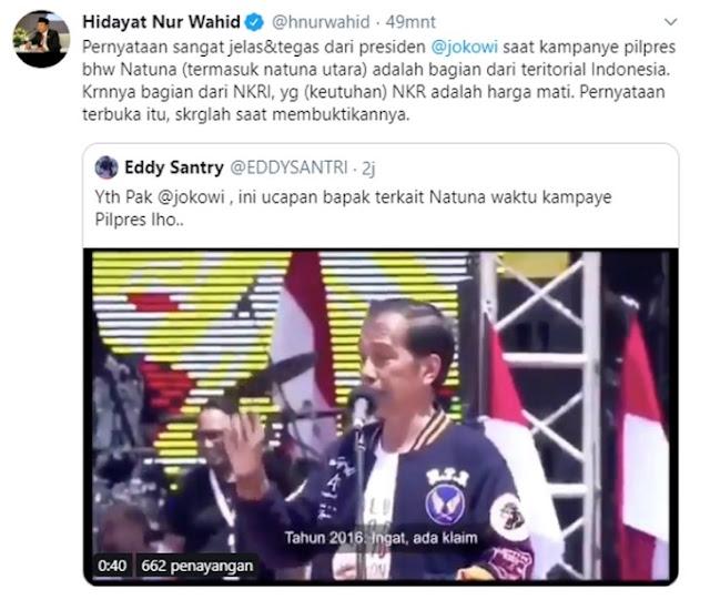 Jokowi Saya Bawa Kapal Perang ke Natuna, Saya Tidak Takut