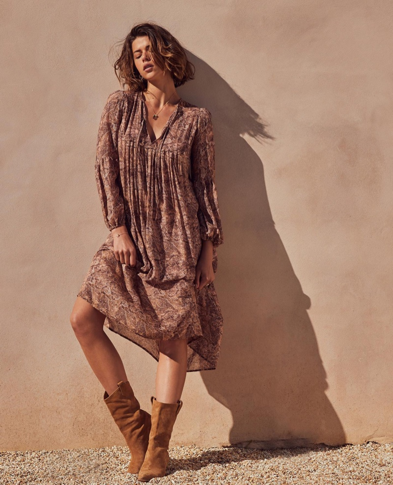 Auguste the Label features Charmed midi dress in Her campaign.
