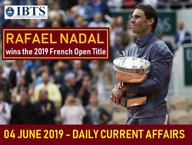 09-10 June 2019 - Daily Current Affairs