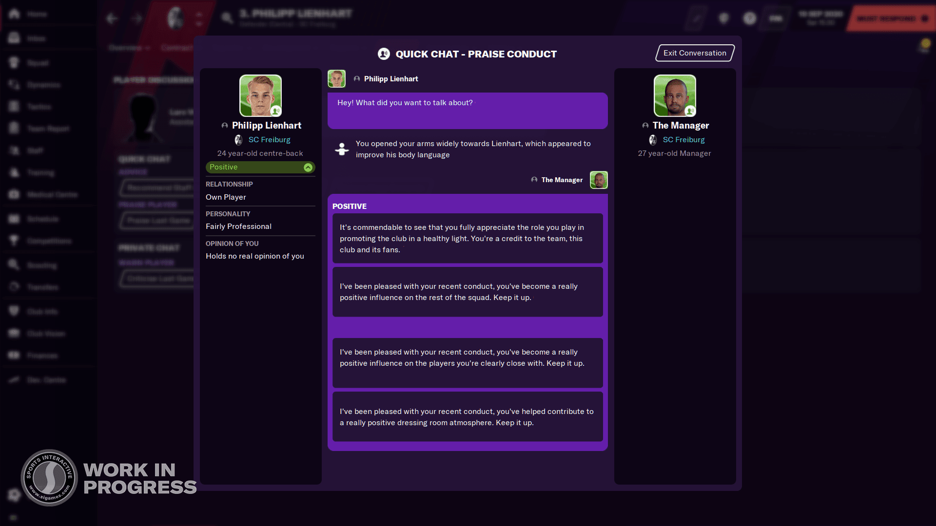 Football Manager 2021 Screenshots - Gestures