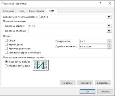 Как сделать шапку таблицы на каждой странице в Excel
