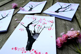 Blooming tree cards