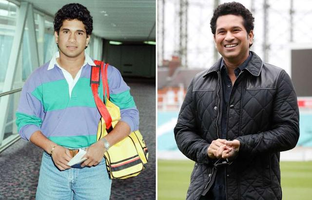 Sachin Tendulkar then and now