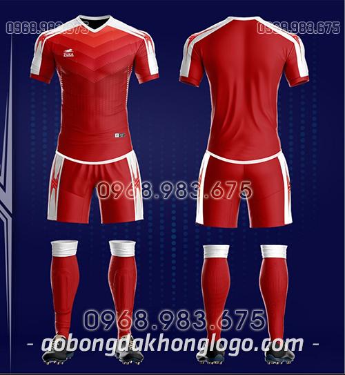 Áo bóng đá ko logo Zuka CV màu đỏ