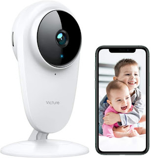 Victure 1080P FHD Baby Monitor Pet Camera 2.4G Wireless Indoor Home Security Camera