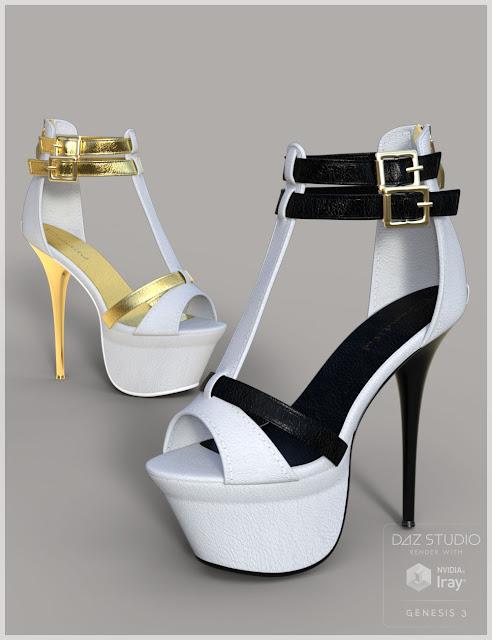 Cool Heels for Genesis 3 Female